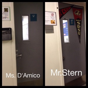 Ms. D'Amico's and Mr. Stern's two new classrooms.