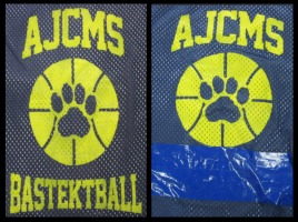 These are the jerseys of the AJCMS basketball team.