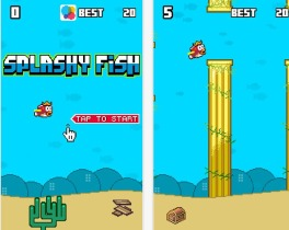 This is a picture of Splashy Fish app. One of the many knockoffs.
