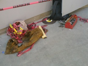 These are some of the tools that the workers used.
