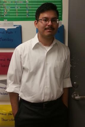Mr. Saltos, a student teacher.
