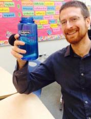 SRLA coach, Matthew Pear, keeping himself hydrated.