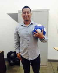 Soccer coach, Javier Alvarado