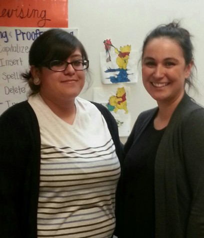 To the left is Mrs. Leos and on to the right is Mrs. Argueta
