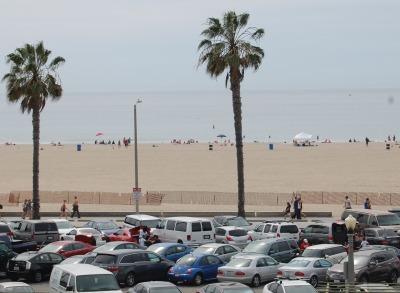 A view of Santa Monica Beach.