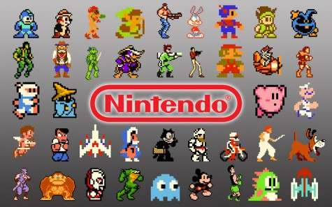 These are a few of the many sprites that exist in the world of video games.
