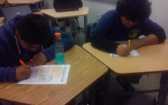 Students taking test's.