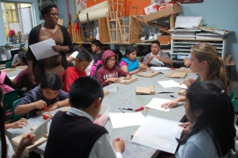 This is the art class in APCH.