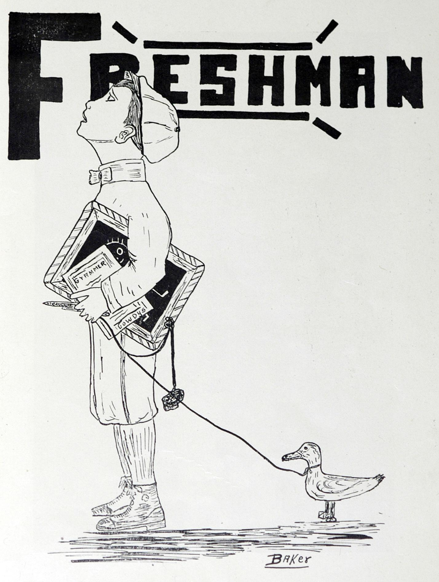 Drawing of a freshman student