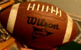 Ball players use to play football.