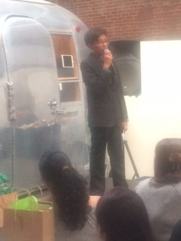 Manuel Argueta reading an excerpt from his piece