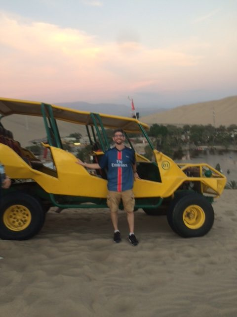 Teacher+Carl+Finer+in+Hunacaina%2C+Peru+after+an+afternoon+riding+dune+buggies+and+sandboarding