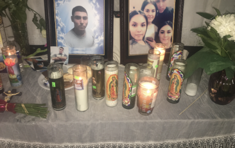 A picture of a ofrenda for Jerry Castro as his family mourned while doing the ten days of prayer.