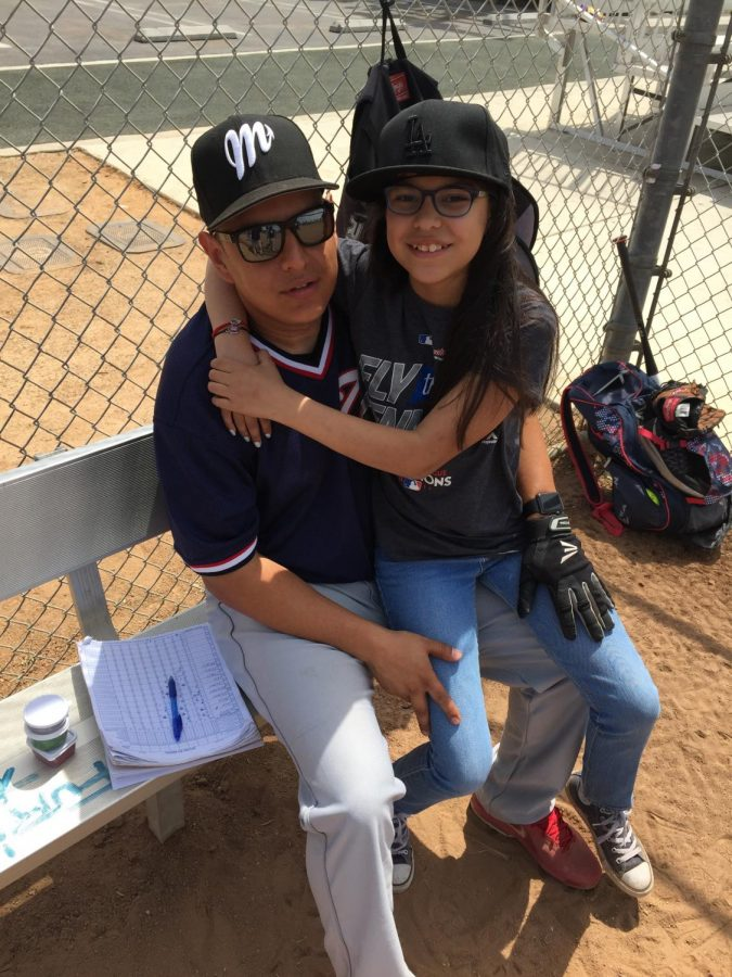 Delailah+Sigala+at+her+dad%27s%2C+Juan+Sigala%2C+baseball+game.