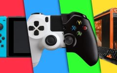 Red is Switch blue is Ps4 green is Xbox yellow is PC