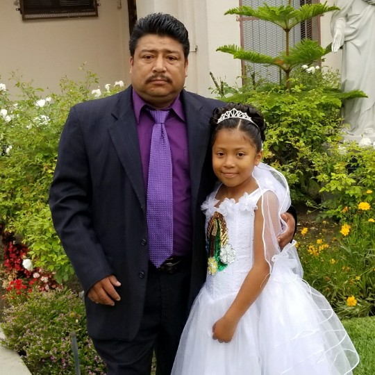 This is my dad and I on my first communion.