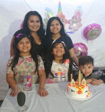 My family celebrating my little sister