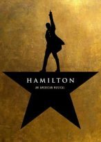 This is the poster of Hamilton.  The musical premiered on Broadway in 2015.