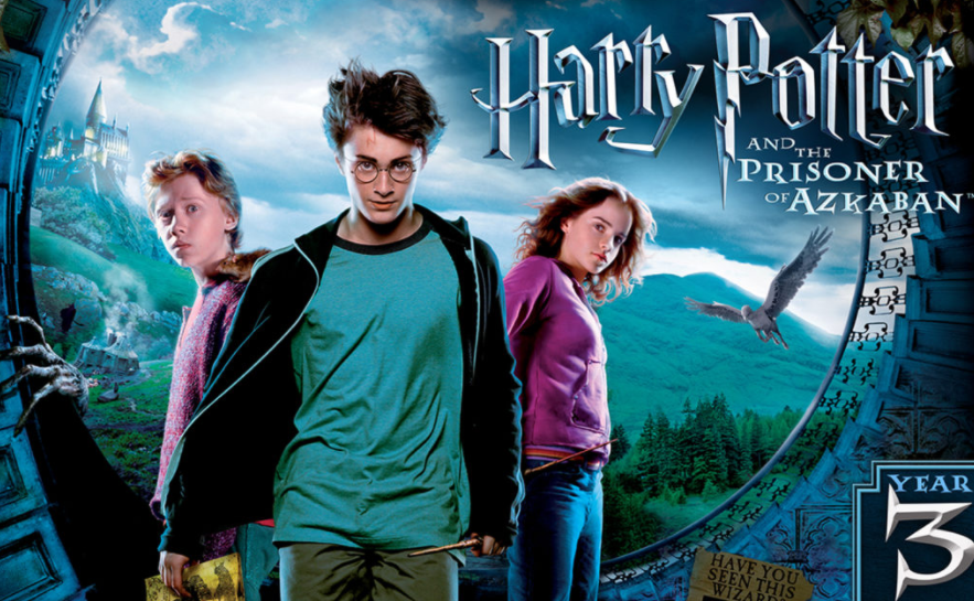 This is a picture  of the three friends go through the events that happen on the movie.They are Harry