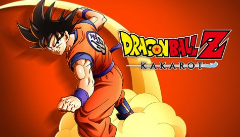 This is the front picture of the video game box (Goku riding Nimbus)