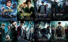 This is a photo of all of the Harry Potter series