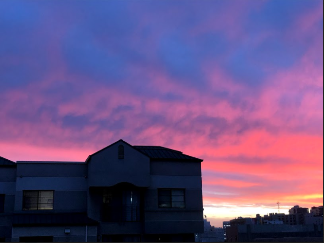 We had moved during this pandemic and one of my favorite things is going outside on the rooftop or the patio to look at the sunset.