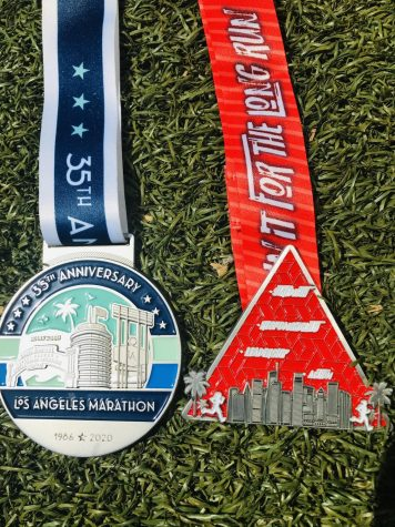 The medal on the left was the SRLA season before COVID and the medal an the right was during COVID.