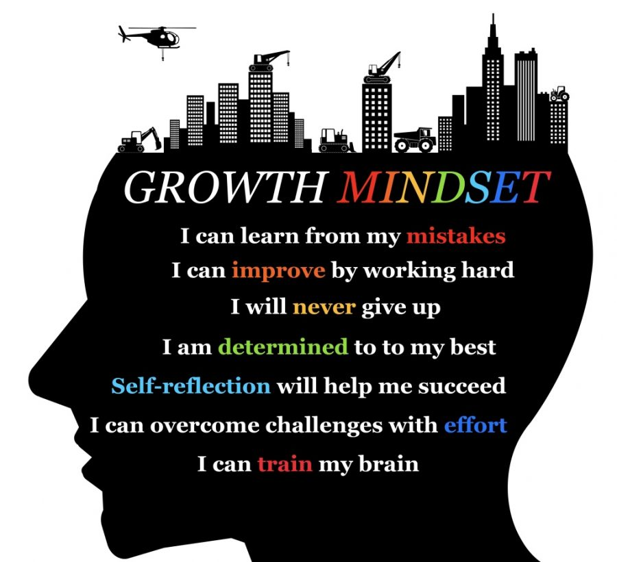This picture shows that we all need to start improving mentally to have a growth mindset.