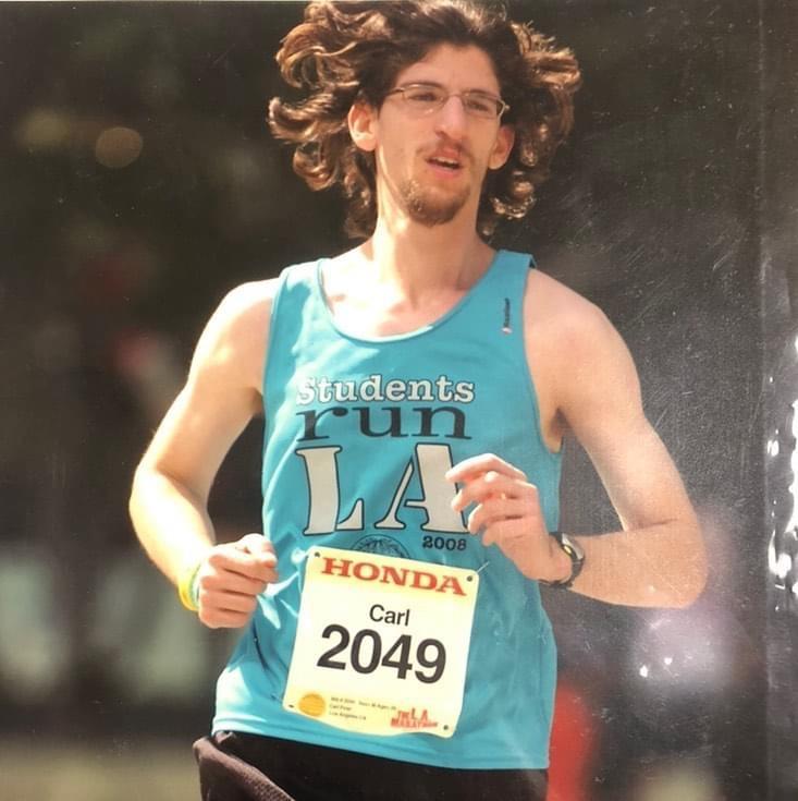 Mr. Finer running the LA Marathon with SRLA in 2008.