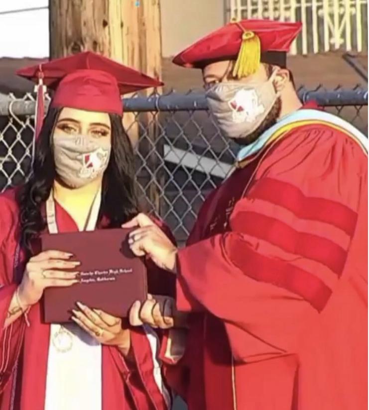 Ilyne Gadea at her high school graduation.