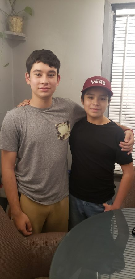Edwin Juarez (left) and  Ivan Mendez (right), looking happy, on the day of the interview.